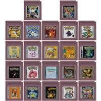 Video Game Cartridge Console Card 16 Bits Pokeon Blue Kaizo Bronze Orange Pink Prism Brown For Nintendo GBC English Version 1