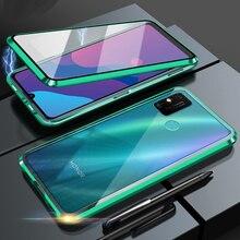 Металлический стеклянный чехол для Huawei Honor X10 Honor 9X Lite Honor 9X Pro Honor 9A 9C, чехол для телефона, двухсторонний Магнитный чехол из закаленного стекла