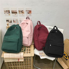 2020 Backpack Women Backpack Solid Color Women Shoulder Bag Fashion School Bag For Teenage Girl Children School Backpacks Female