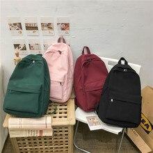 2020 sırt çantası kadın sırt çantası katı renk kadın omuzdan askili çanta moda okul çantası genç kız için çocuk okul sırt çantaları kadın