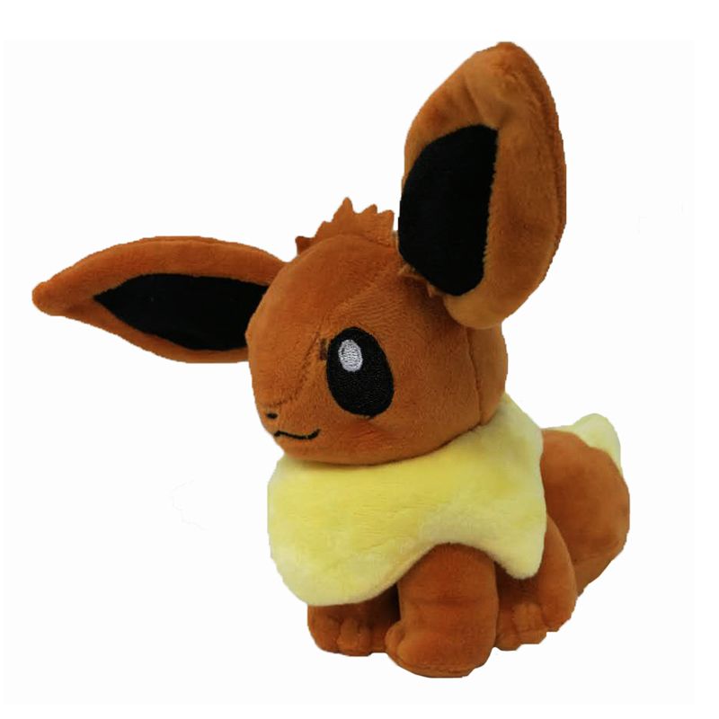 Takara Tomy Pokemon Plush Hot Anime Character Eevee Toys 15cm Kawaii Soft Stuffed Animals Doll for Kids Toys Birthday Gift