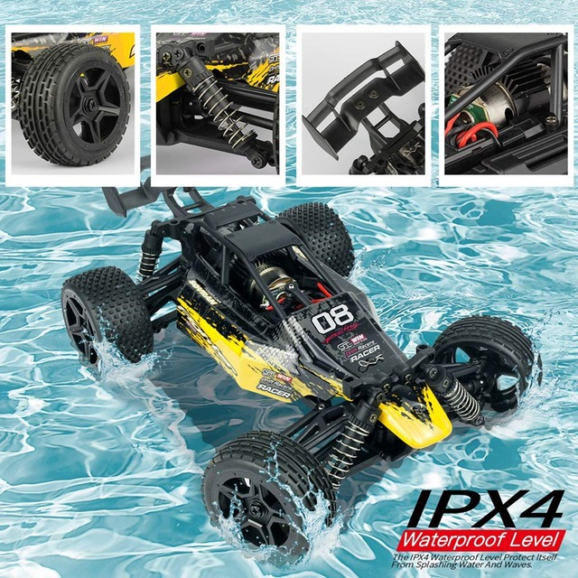 1:16 Radio RC Car High Speed RC Cars 4WD 36KM/H Off Road Buggy Truck Electric Drift Toy Trucks Yellow 3