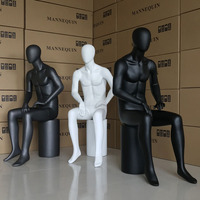 Full body Mannequin Dummy Sitting Mode Black and White Man's model Sitting Hot Sale