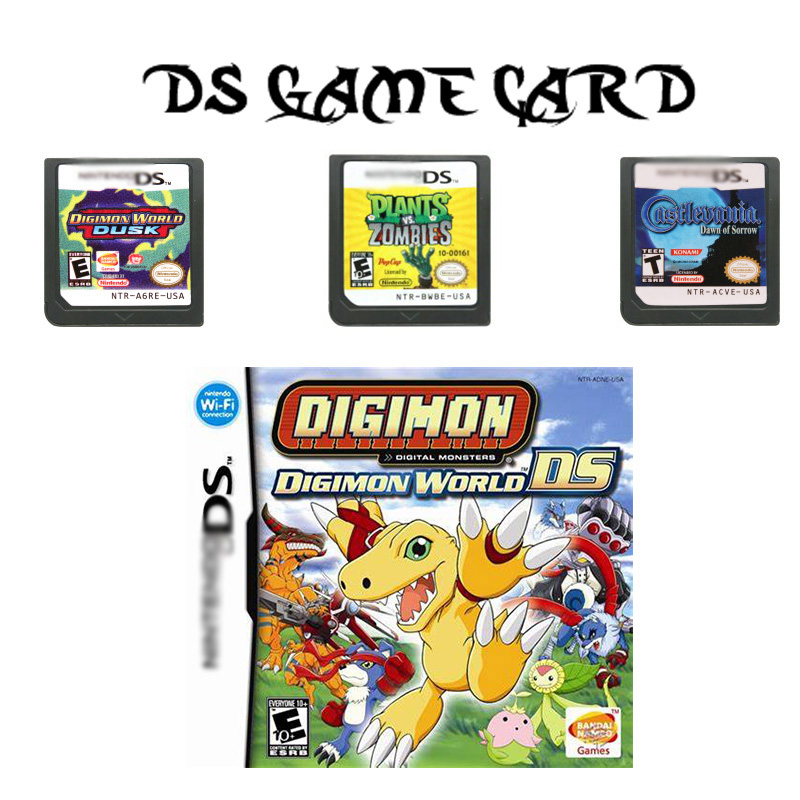 DS Game Cartridge Console Card HeartGold SoulSilver Castlevania 3 in 1 Diamond Pearl Platinum MARIO PARTY for Nintendo DS image