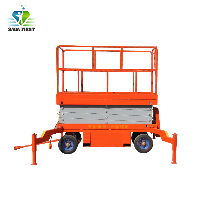 Semi Electric Scissor Lift With Emergency Decline Valve With ISO Certificate