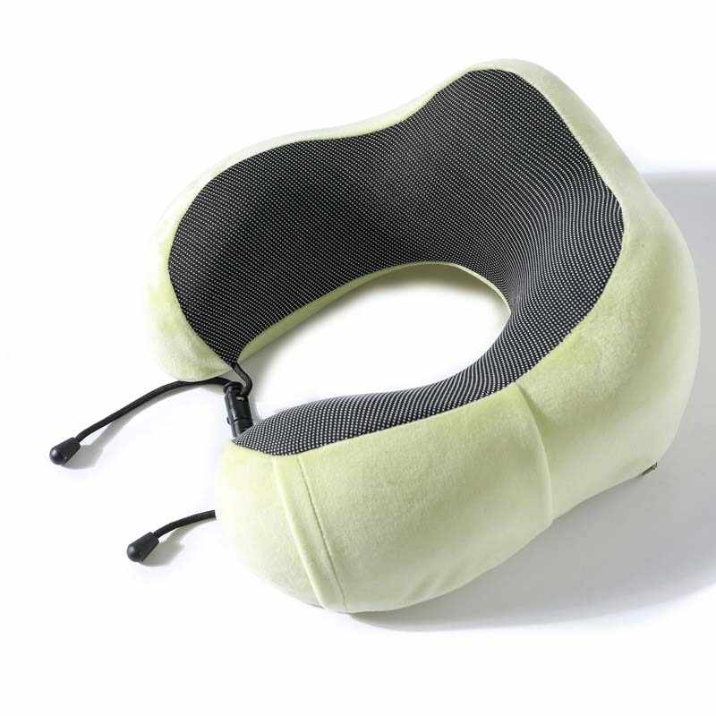 Avión viaje cuello almohada de espuma de memoria profundo sueño cabeza cojín para asiento de silla hogar textil
