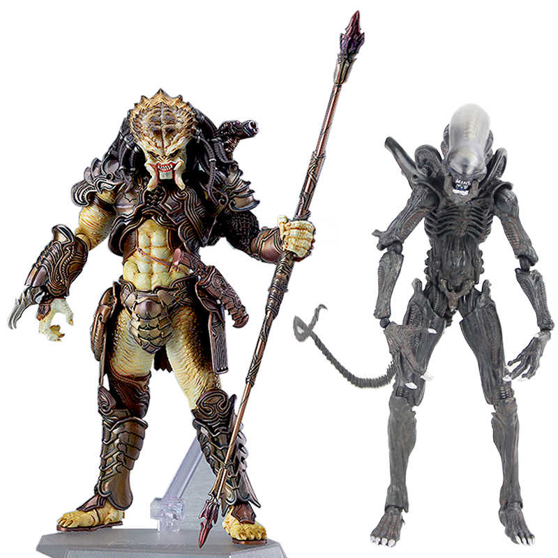 Takayuki Takeya Figma SP-108 Alien/SP-109 Predator 2 PVC Action Figure Da Collezione Model Toy