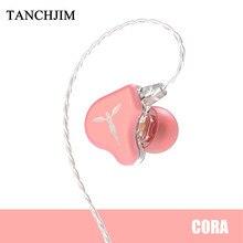 TANCHJIM – écouteurs intra-auriculaires à pilote dynamique, oreillettes Audio HiFi avec câble OFC plaqué argent, couleur Macaron, pour Xiaomi Huawei