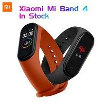 Braccialetto con schermo a colori intelligente Xiaomi Mi Band 4 originale frequenza cardiaca Fitness 135mAh Bluetooth 5.0 50M nuoto impermeabile
