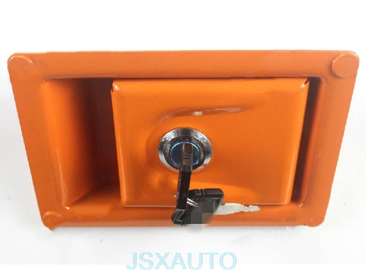 Image 3 - Excavator Accessories Side door lock side door lock side cover lock hydraulic pump door lock for HITACHI ZAXExterior Door Panels & Frames   -
