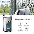 Электронный замок  водонепроницаемая сумка с отпечатком пальца  Умный Замок для сумки  USB зарядка  Домашняя безопасность