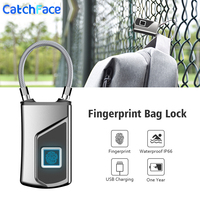 Elektronische Schloss Wasserdichte Fingerprint Tasche Schloss Smart Vorhängeschloss für tasche USB Lade Home Security