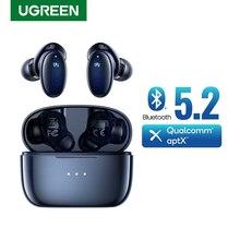 Ugreen-Bluetooth 5.2を搭載したHitTunex5twsワイヤレスヘッドセット,aptxクアルコム,70msの低遅延,ゲーム用,28時間
