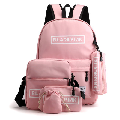 Women Canvas 4Pcs/set School Backpacks College Schoolbag Fashion Plecak For Teenager Girl And Boys Outdoor Moclila Shoulder Bag