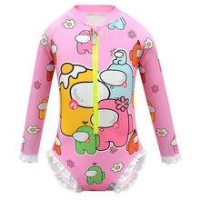 Entre os eua imprimir roupas da menina da criança do verão unicornio vestiti bebê meninas crianças maiô de manga longa uma peça t camisa roupas