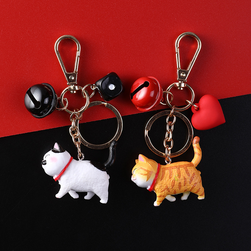 2020 New Cartoon Cute Popular Doll Cat Keychains Women Girls Charm Bags Key Chain Accessories Pendant Car New Key Ring 2019