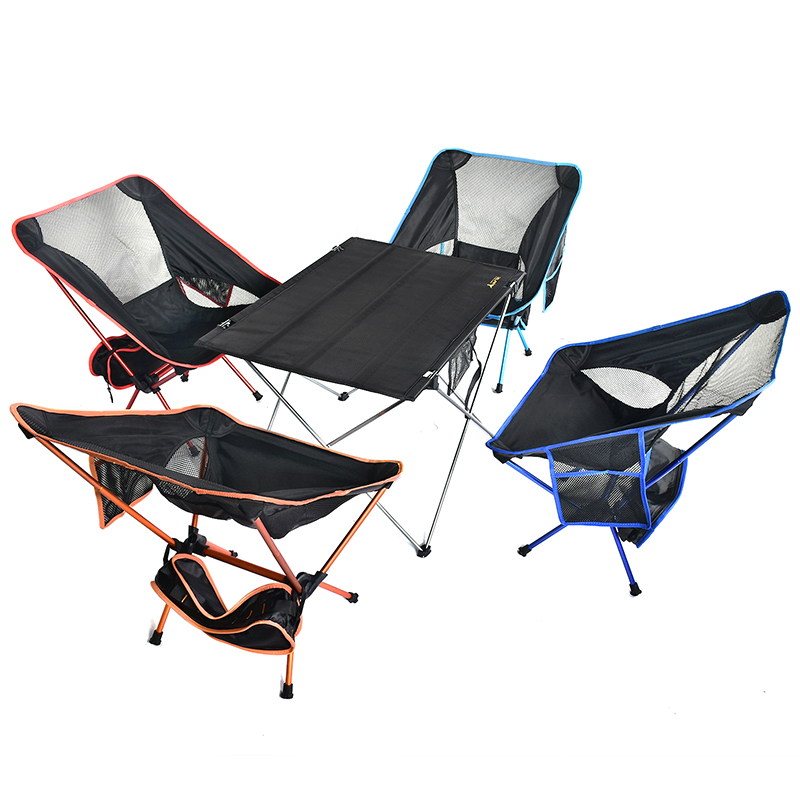 Portable Foldable Folding Table Chair Desk With Pocket Camping Traveling Outdoor Picnic 7075 Aluminium Alloy Ultra-light M L