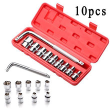 10 Pcs/set Universal Ratchet Socket Wrench Set Multi-tool Car Repair Spare Parts(China)