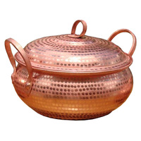 Red Copper Pot Chinese Style Multi functional Household Hand made Thickened Without Coating Firm And Durable Easy To Clean