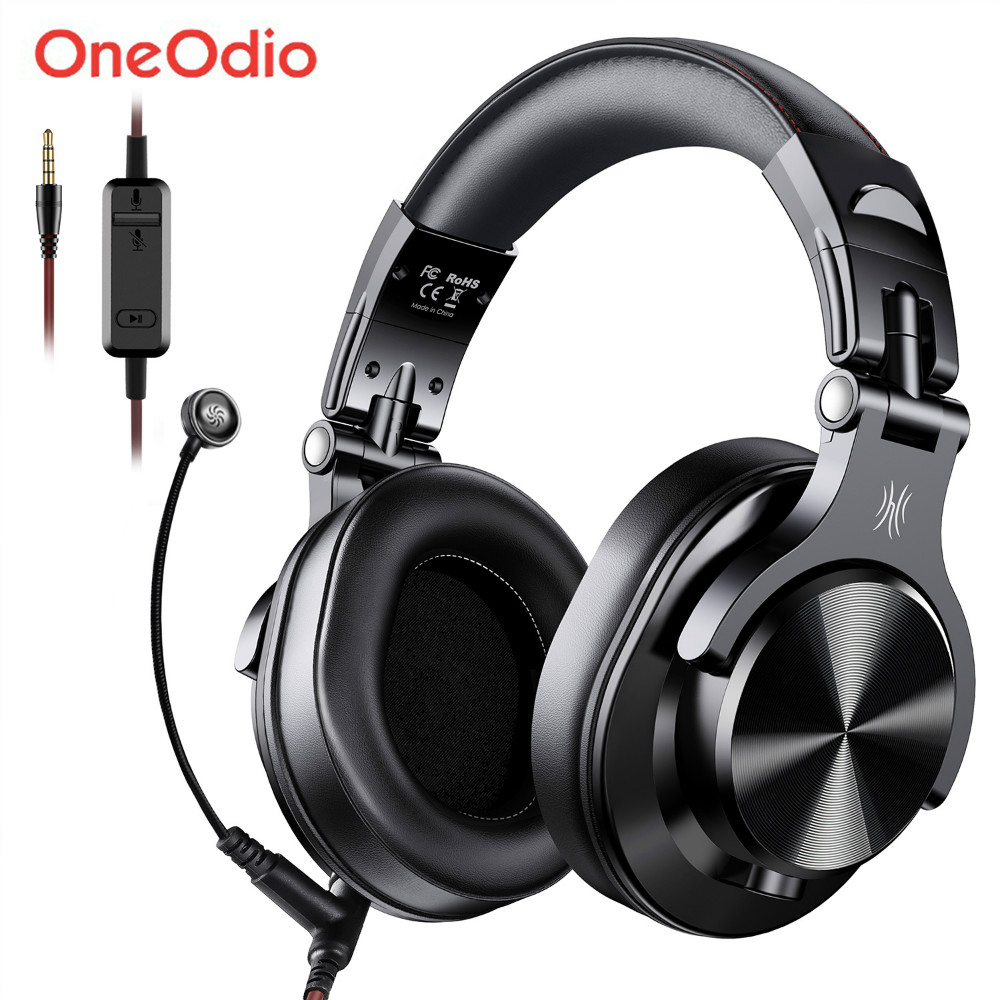 Oneodio A71 Gaming Headset Studio DJ Headphones Stereo Over Ear Wired Headphone With Microphone For PC PS4 Xbox One Gamer|Phone Earphones & Headphones|   - AliExpress