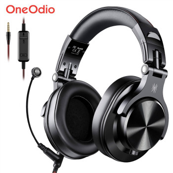 Oneodio A71 Gaming Headset Studio DJ Headphones Stereo Over Ear Wired Headphone With Microphone For PC PS4 Xbox One Gamer oneodio wired professional studio pro dj headphones with microphone over ear hifi monitors music headset earphone for phone pc