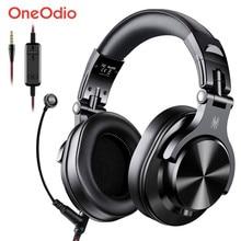 Oneodio a71 gaming headset estúdio dj fones de ouvido estéreo sobre a orelha com fio fone de ouvido com microfone para computador ps4 xbox um gamer