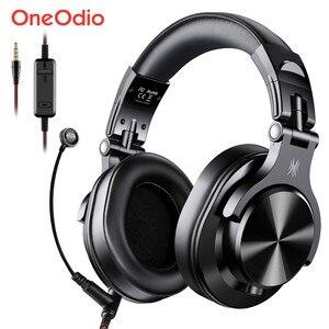 Image 1 - Oneodio a71 gaming headset estúdio dj fones de ouvido estéreo sobre a orelha com fio fone de ouvido com microfone para computador ps4 xbox um gamer