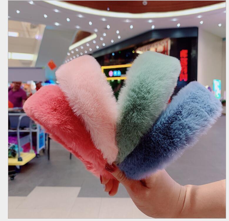 FW Sweet Retro Women Elegant Rabbit Fur Hairbands  Hair Accessories 12 Colours Headbands