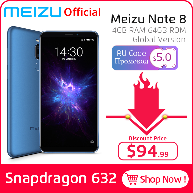 Meizu Snapdragon 632 Note 8 4GB LTE/GSM/CDMA/WCDMA Mcharge Octa Core Fingerprint Recognition