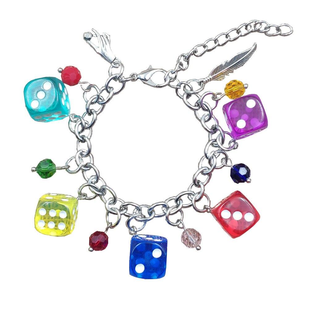 Pulsera de cadena de acero inoxidable con dibujos animados para mujer, brazalete de resina, colores caramelo, acrílico, romántico, Sexy, CY005-006