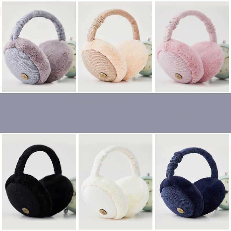 Наушники Для женщин розовый Kawaii Милые простые теплые мягкие зимние теплые ухо Для женщин s универсальные корейский стиль высокое качество Повседневное Новый