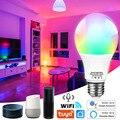 Wi-Fi умный светодиодный светильник лампы E27 Tuya Smart лампы E27 интеллектуальная Wifi Лампа 220V Светодиодная лампа RGBCW светильник, 12 Вт, 15 Вт, 18 Вт, Alexa, ...