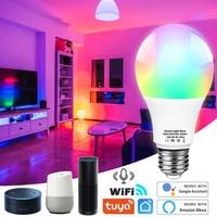 Wifi Smart Led Glühbirne E27 Tuya smart Birne E27 Smart Wifi Lampe 220V Led-lampe RGBCW Licht 12W 15W 18W Alexa Wifi Birne Für Home