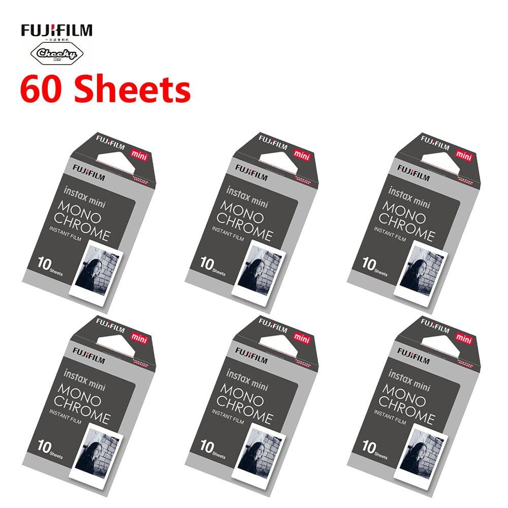 Черно-белая монохромная пленка Fujifilm instax mini 8 9, пленка Fujifilm instax Instant Camera mini 8 9 7s 25 50s 90, бумага, 10-60 листов