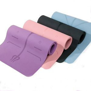 TPE Yoga Mat with Position Lin