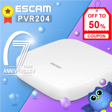 ESCAM PVR204 1080P 4CH Mini NVR Surveillance Network Video Recorder Support ONVIF For IP Camera System Support Max to 6TB HDD