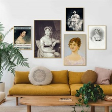 The Portrait Of Jane Austen Vintage Posters And Prints Canvas Art Painting Wall Pictures For Living Room Decoration Home Decor