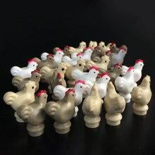 10 قطعة/الوحدة الإبداعية مزرعة الحيوان الدجاج كتل الشكل MOC اكسسوارات جزء اللبنات نموذج لعب للأطفال