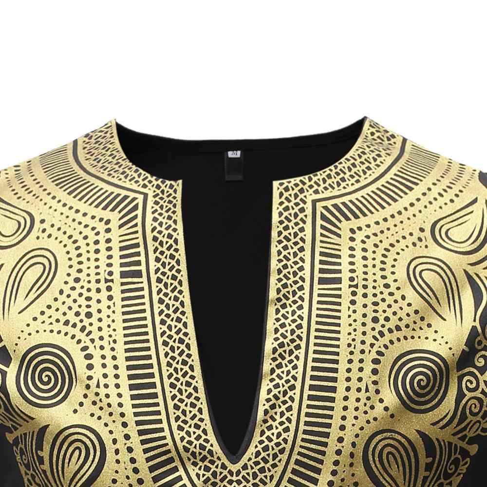 Ropa africana para hombre 2019 negro para hombre Dashiki camisa africana para Hombre Camisetas pantalón conjunto de 2 piezas conjunto de ropa africana para hombres XXXL