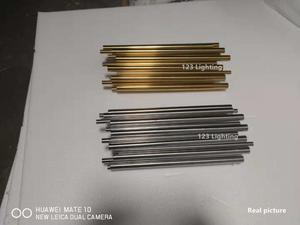 Image 5 - Ouro cromo led luzes de parede tubo metal corpo para sala estar quarto cabeceira superfície montagem decoração casa loft arandela luminárias