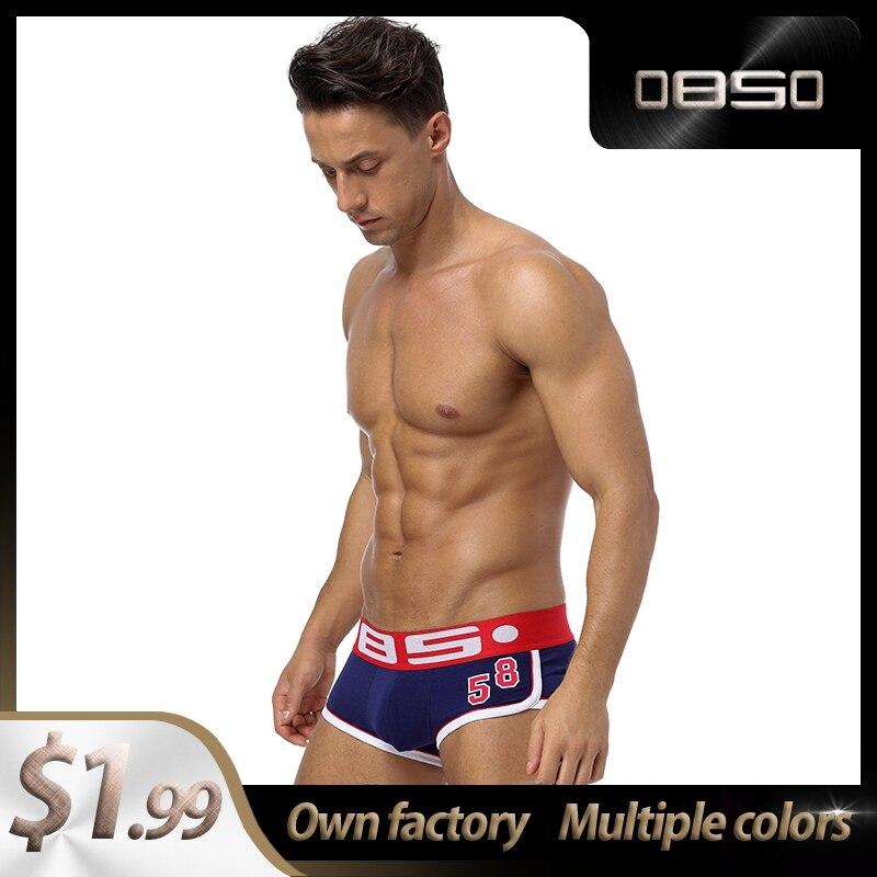 Panties BS Cotton LOGO Soft Sexy Men Underwear Boxer Shorts Popular Lingeries Mens Boxershorts Underware Boxers  Man BS68