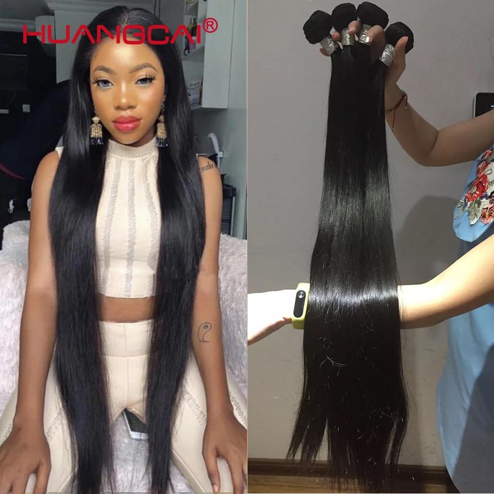 8-34 Polegada 36 38 40 Polegada pacotes tecer cabelo brasileiro em linha reta 100% cabelo humano 3/4 pacotes de cor natural remy extensões do cabelo