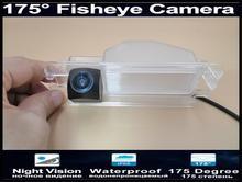 175 องศา 1080P Fisheye เลนส์ด้านหลังกล้องที่จอดรถย้อนกลับกล้องสำหรับ 2013 Renault Dacia Duster รถกล้อง