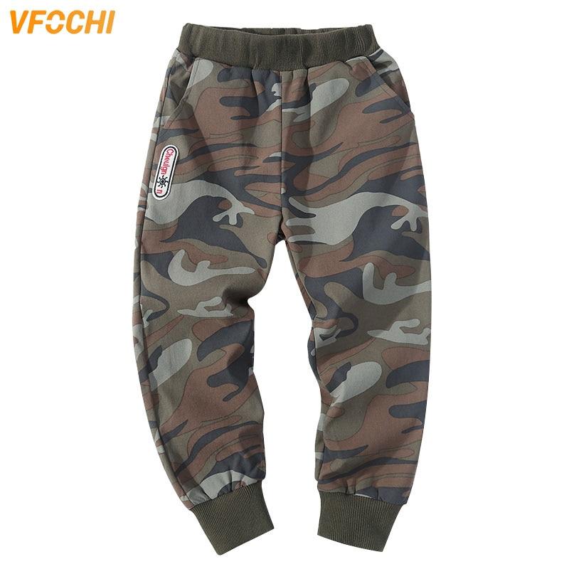 VFOCHI 2020 Boys Pants Spring Summer Thin Camouflage Kids Trousers  4-14T Teenager Boy Clothing Elastic Waist Boy Pencil Pants 1