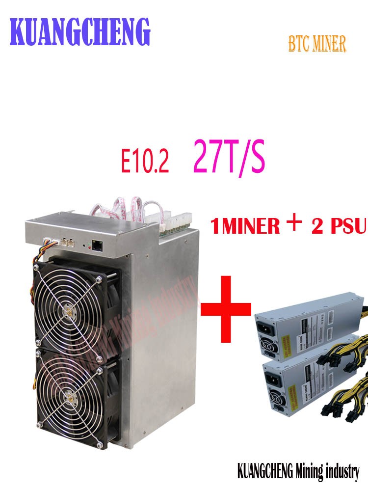 New Btc BCH Miner Ebit E10.2 27T SHA256 Asic With PSU Better Than E10.3 Antminer S9k S9j T9+ S11 T15 Z9 WhatsMiner M3 M3X T2T T3