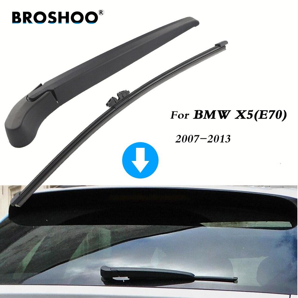 380mm,Windshield Auto Styling JYJIAJU Car Rear Wiper Blades Back Windscreen Wiper Arm For BMW X5 Hatchback 2007-2013 Item Length : Single rear wiper E70