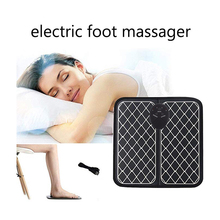 Electric EMS Foot Massager Pad Massage Feet Cushion Machine Deep Kneading Foots Acupoint Muscle Stimulator Improve Blood Health цена 2017