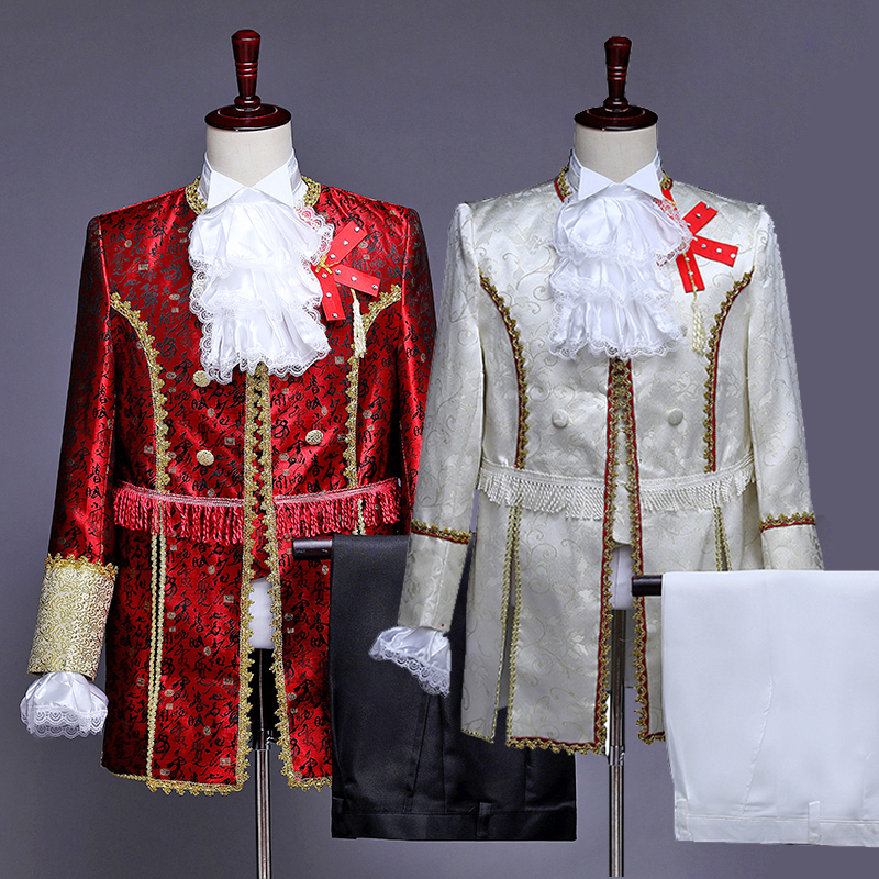 Men's Suit Special Male Palace Themed Wedding Clothing European Palace Dress With Prince Royal Garments Jazz Costumes DT1502