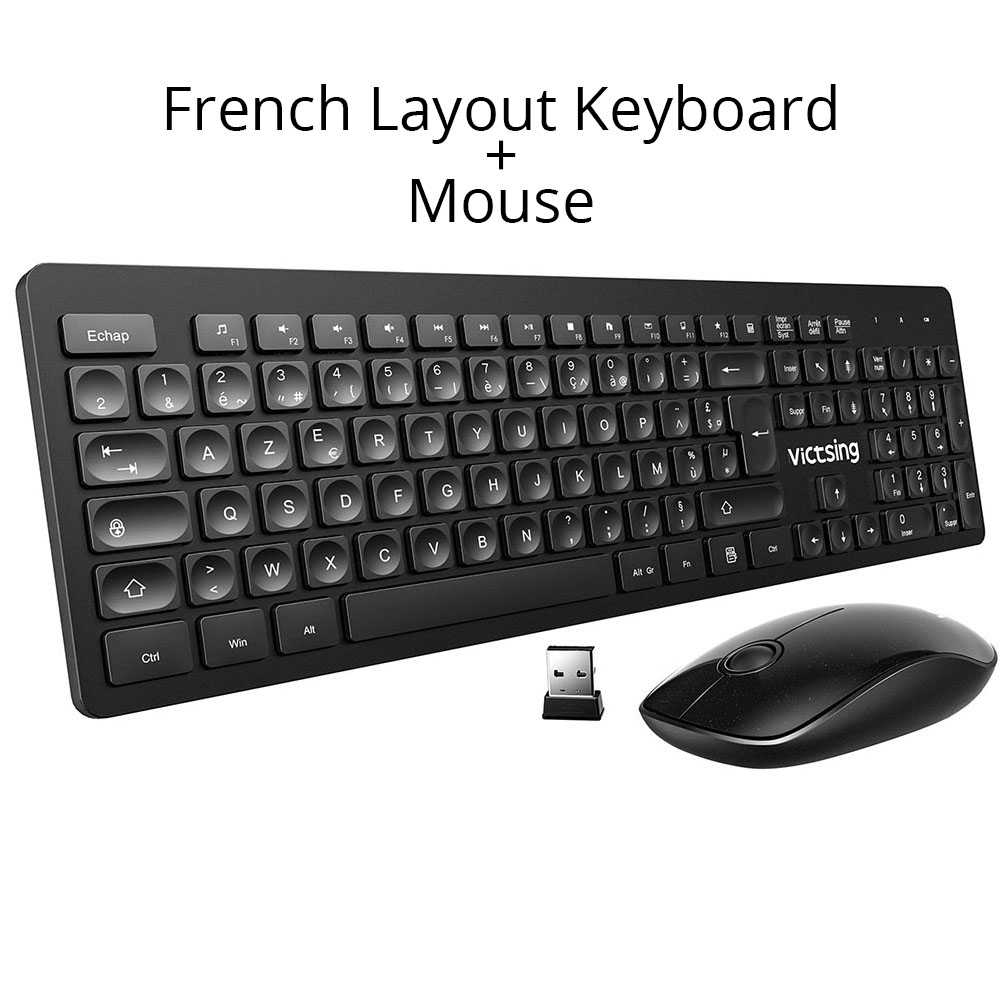Victsing pc176 teclado sem fio e mouse