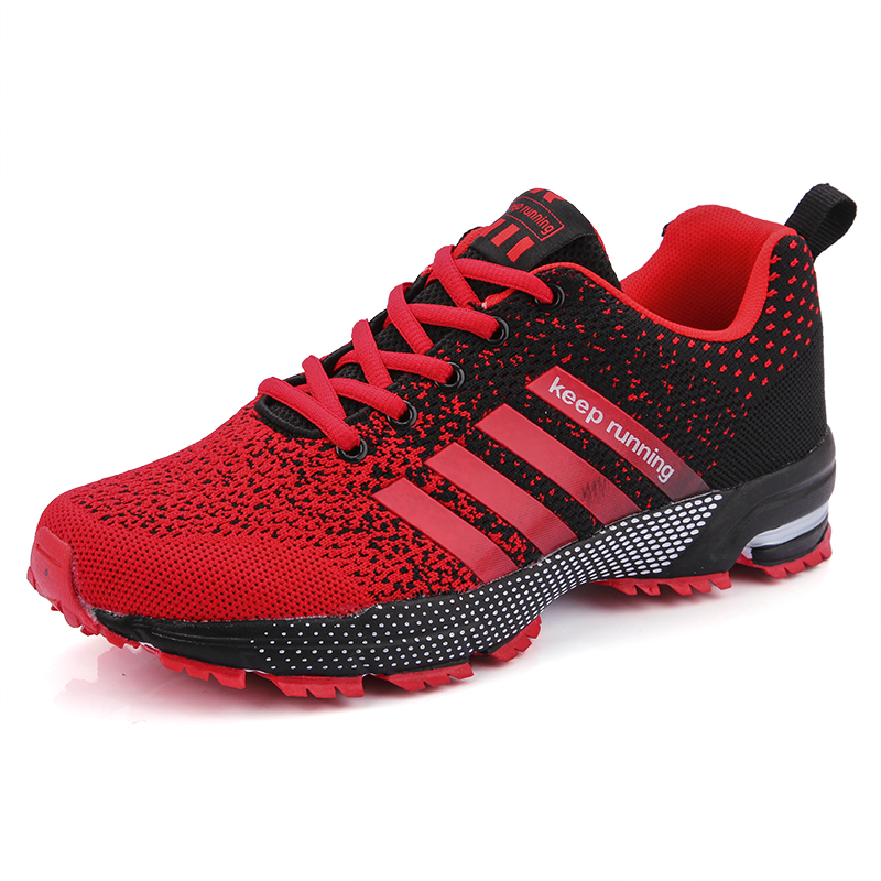 New 2019 Men Running Shoes Breathable Outdoor Sports Shoes Lightweight Sneakers for Women Comfortable Athletic Training Footwear